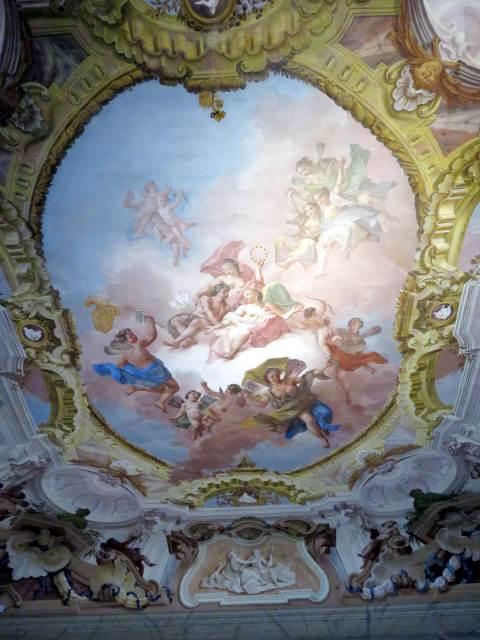 Villa Pisani, affresco stanza interno, Riviera del Brenta, venezia