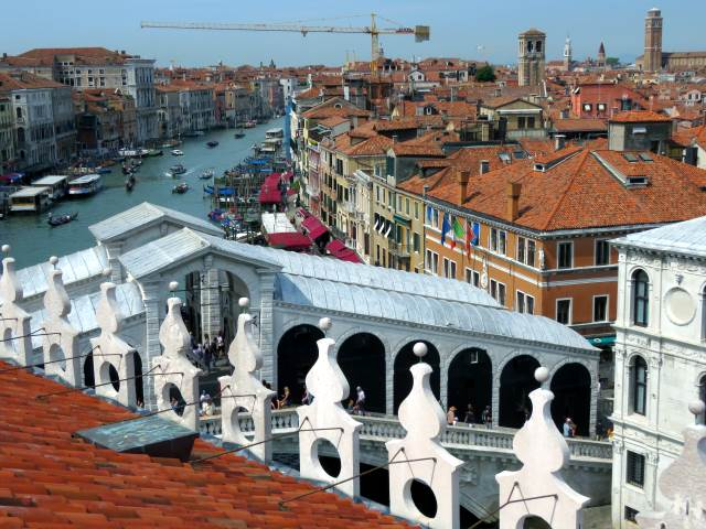 Venice The Terrace Of The Fondaco Dei Tedeschi
