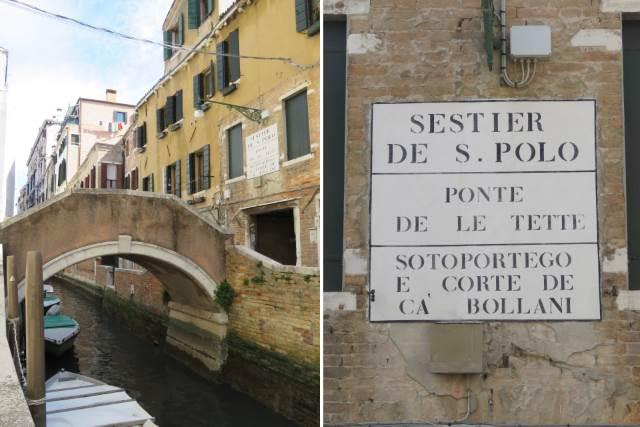 Venezia, Ponte de le Tette